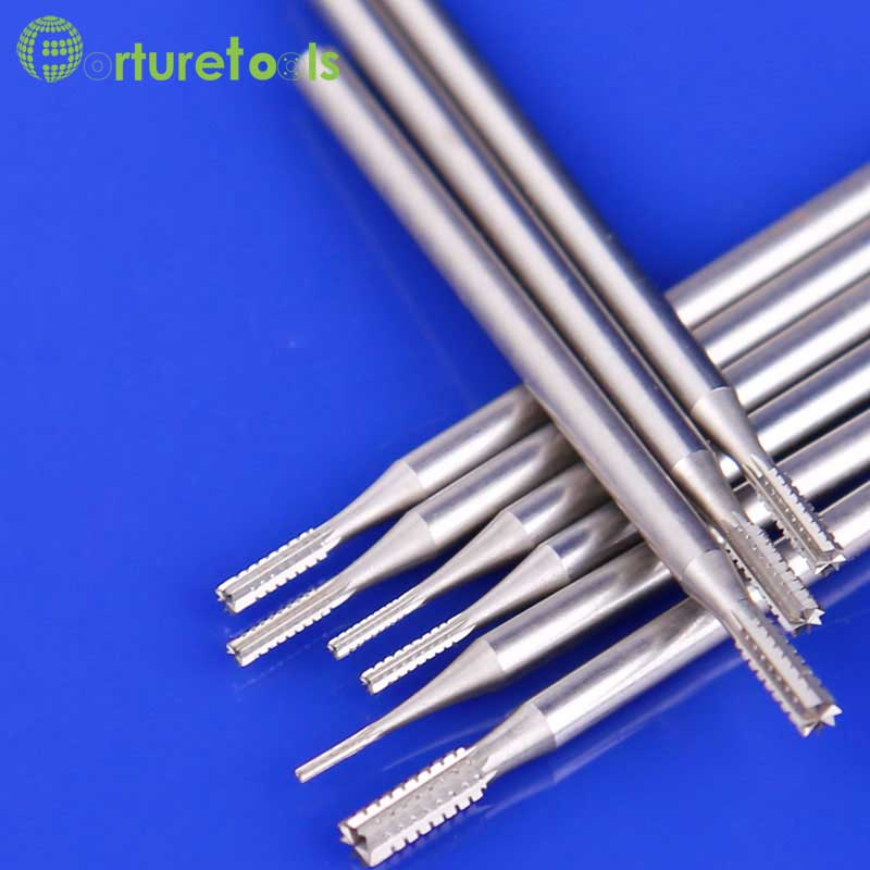 6pcs type F tungsten carving tools Router Bits dremel Rotary hand tools for jewelry head 0.6~2.3mm Shank dia 2.35mm TZ64