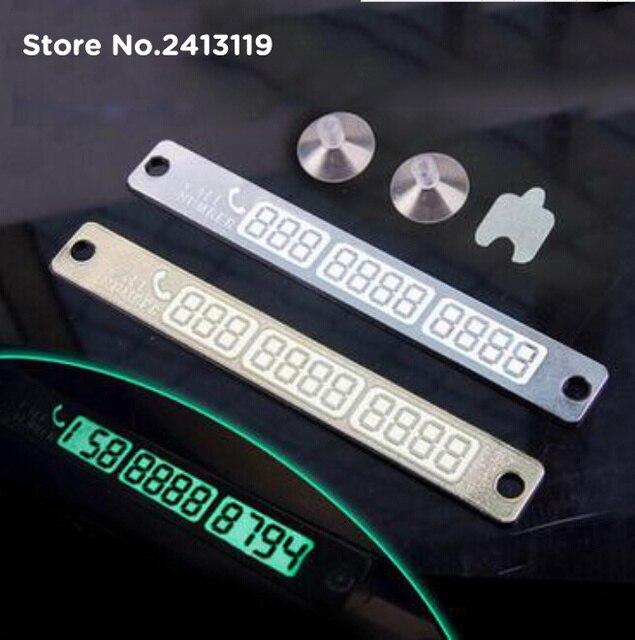 Car Luminous Phone Number Parking Card For Mercedes Benz W211 W221 W220  W163 W164 W203