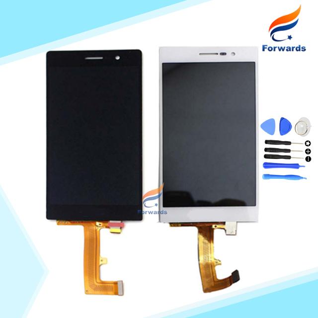 100% de garantia para o Huawei Ascend P7 Lcd Screen Display com digitador Touch + ferramentas assembléia Black & White 1 peça frete grátis
