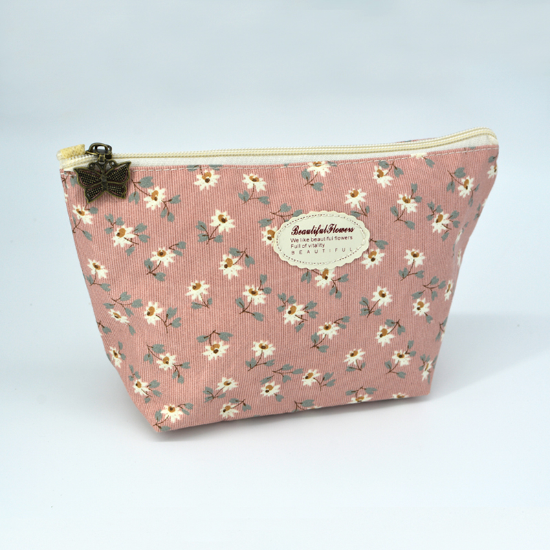New Vintage Floral Printed Cosmetic Bag Women Makeup Bags Female Zipper Cosmetics Bag Portable Travel Make Up Pouch new arrival female zipper cosmetics bag large cosmetic bag women make up bags portable travel make up pouch