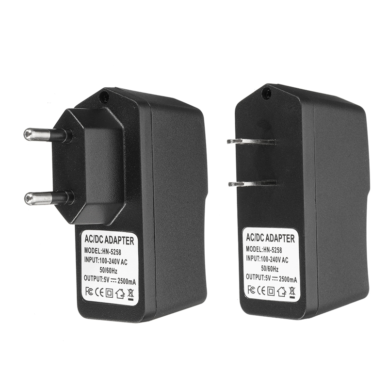 Universal Mobile <font><b>Phones</b></font> <font><b>Charger</b></font> 5V 2.5A AC 100-240V DC EU US Plug USB Power Supply Adapter ABS For Samsung For <font><b>HTC</b></font>