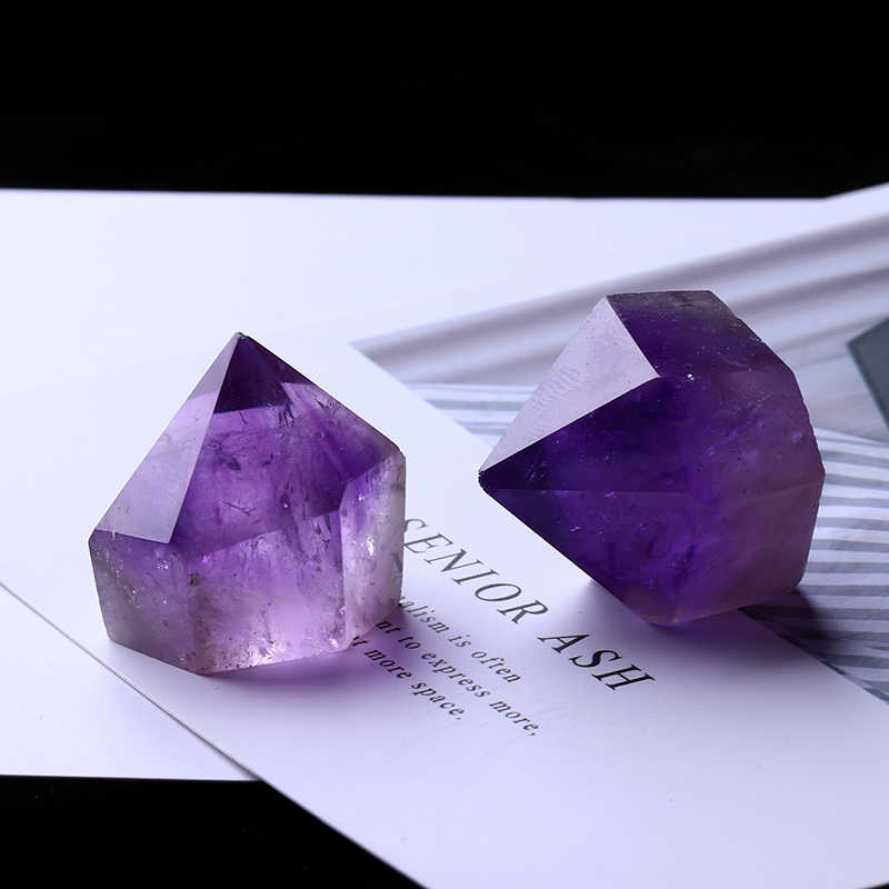 1PC Natural Amethyst Wand Quartz Crystal Repair Crystal Stone accessories Home Decor