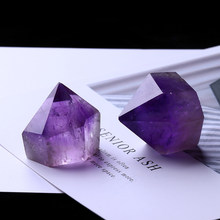 1PC Natural Amethyst Wand Quartz Crystal Repair Crystal Stone accessories Home Decor(China)