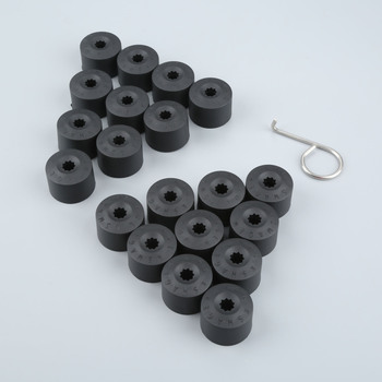 20Pcs 17mm Car Wheel Nut Auto Hub Screw Cover Protection Caps For Volkswagen Golf MK4 Bora Passat Beetle Lupo Polo Audi Skoda image