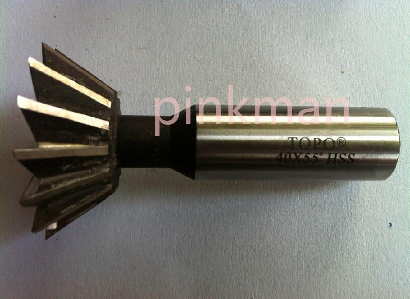 1pcs 20mm x 60 Degree HSS Dovetail Cutter End Mill High Quality 12mm x 60 degree hss dovetail cutter end mill