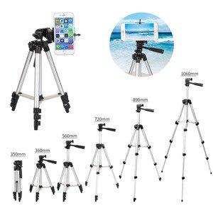 Image 2 - عالمي أربعة أرضية عالية قابلة للتعديل + طوي الحامل ثلاثي الأرجل للكاميرا والهاتف المحمول توفير حامل هاتف مع صندوق البيع بالتجزئة