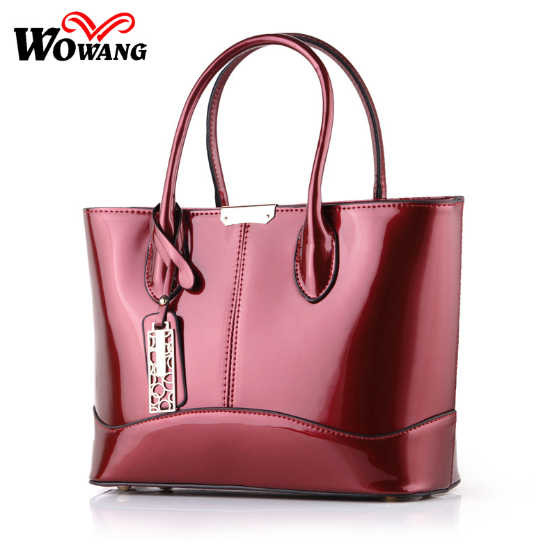 2017 Fashion Women Bag PU Leather Casual Women Handbag Brand Bag Simple Women Shoulder Bags Patent Women Messenger Bags Tote