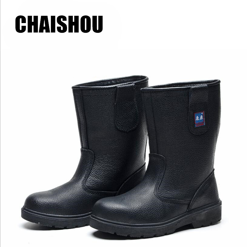 Men Work Boots Oilfield High Help Shoes Wear Resistant Oil Resistant Acid And Alkali Resistant Anti-smashing Anti-piercing CS315