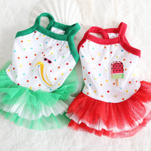 Summer Lovely Sleeveless Puppy Cat Skirt Petticoat Pet Dog Clothes Bowknot Banana Dress Supplies Pet Ice-cream Skirts for Pets(China)