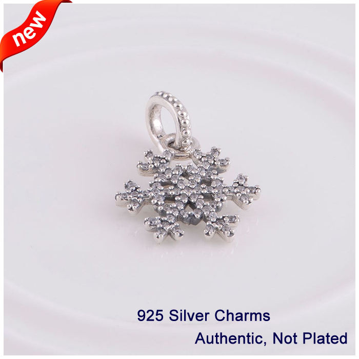 L341 New Arrival Authentic 925 Sterling Silver Beads snowflake - Fine Jewelry - Photo 1