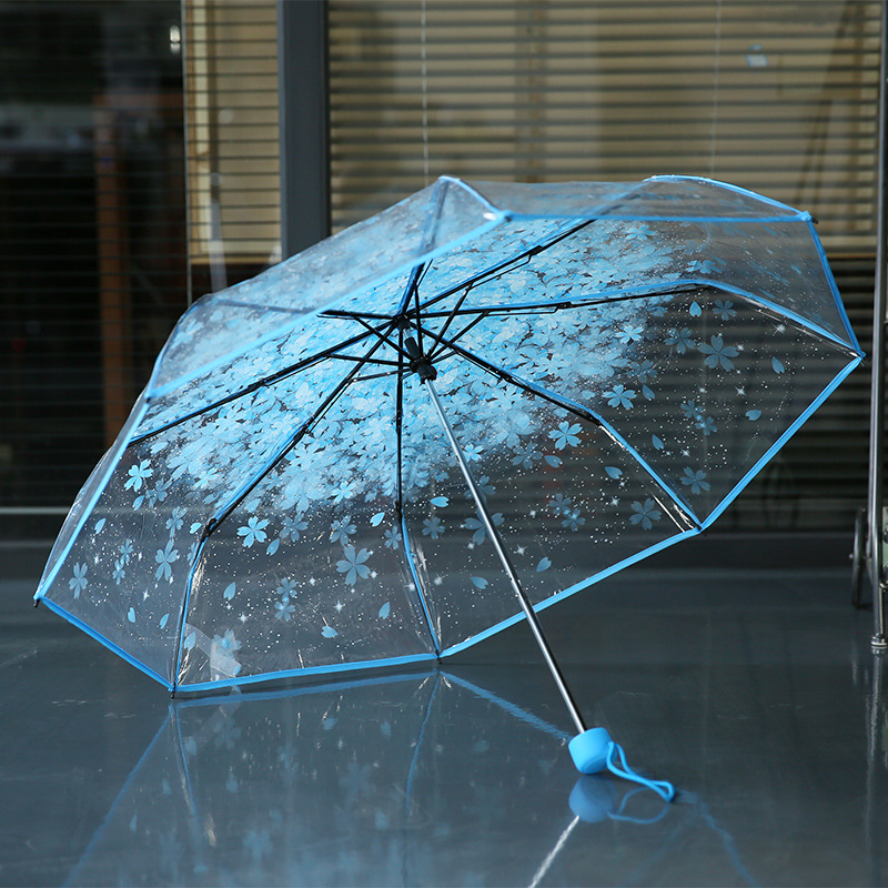 26c5ac097353c 8k 3 fold sun rain umbrellas high quality rain tools woman flowers  transparent umbrella for female and male -in Umbrellas from Home & Garden  on ...