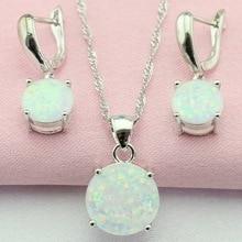 Здесь можно купить  Fantastic White Australia Opal White Topaz 925 Silver Jewelry Sets Drop Earrings Pendant/Necklace For Women Free Gift Box