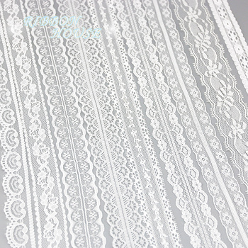 (5 yards/roll) white lace fabric Webbing Decoration packing Material roll wholesale 1