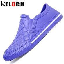 Keloch hombres unisex cómodos holgazanes eva espuma amantes casuales zapatos sin cordones planos con zapatillas hombre 5 color