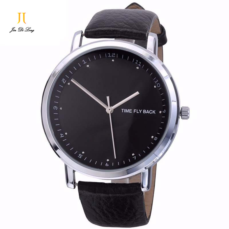 Brand Anti clockwise Fashion Classic Casual Business Watch Men Quartz Wristwatch Leather Strap Waterproof Customized For