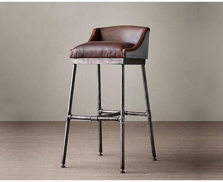 Attractive Stylish Bar Chair Bar Chairs Iron Industrial Metal Chair Highchair Leather  Stools Soft Seat Cushion Chair Highchair Reception In Bar Stools From  Furniture ...
