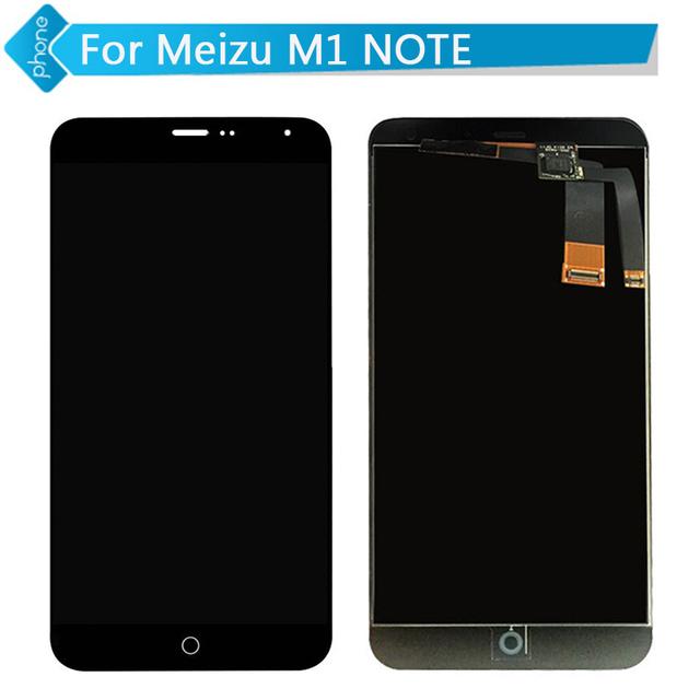 Display lcd touch screen digitador para meizu m1 note assembléia preto frete grátis