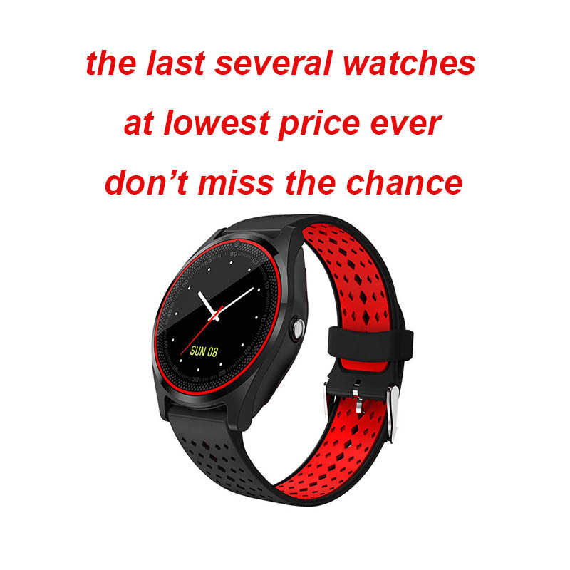 Bluetooth V9 Smart Watch Support 2G SIM TF card <font><b>Smartwatch</b></font> Pedometer Health Sport Men Women <font><b>Smartwatch</b></font> For Android pk dz09 Y1 V8 image