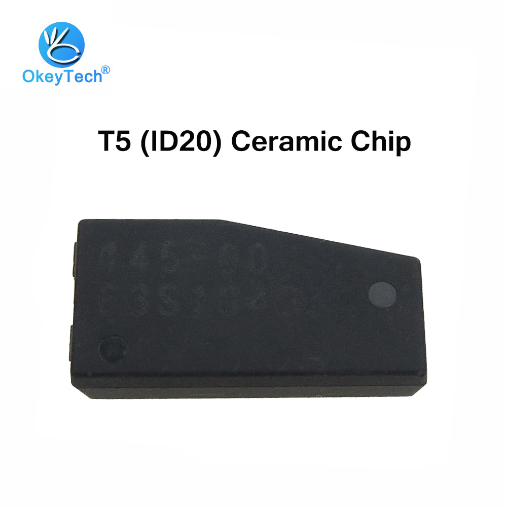 OkeyTech 20pcs/lot T5 Car Key Transponder Blank Carbon Cloneable Cemamic Chip T5 ID20 For Locksmith Tool ID 20-T5 Free Shipping
