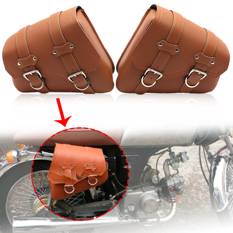 2Pcs Motorcycle Bag For Sportster XL 883 1200 Motorcycle Saddle Bags Pu Leather Motorbike Side Tool Bag Out Door Luggage