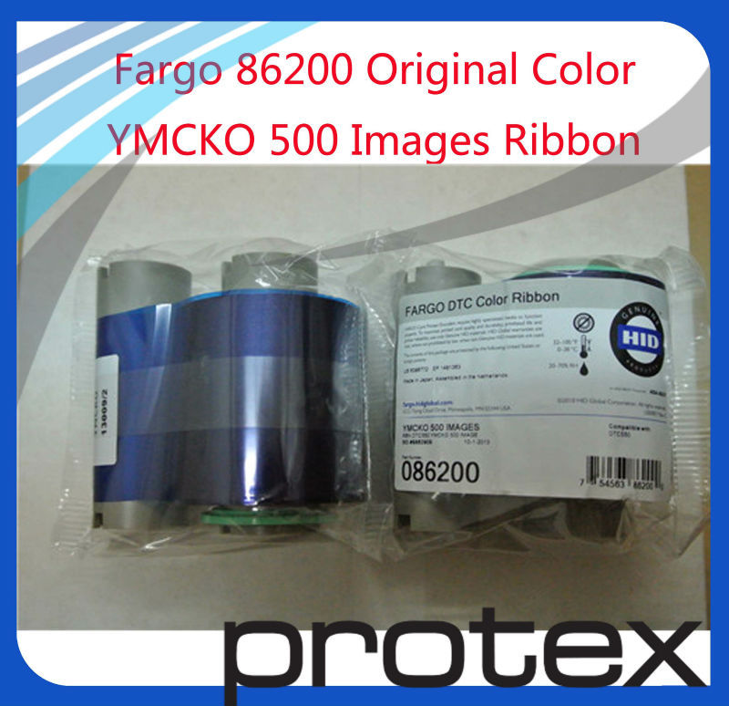 Cleaning 86200 Fargo DTC550 ID Card Printing Kit Ribbon Cards