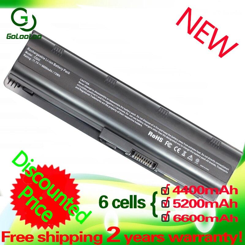 Células de Bateria para HP Pavilion DM4 6 Golooloo DV3 DV4 G7 G6 DV6 DV7 G4 G42 G32 G56 G62 G72 G7t-1000 para Compaq Presario CQ42 CQ43