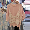 Fashion Two Pieces T Shirts Women 2017 Summer Hot New Lace Harness T Shirt Female Loose