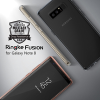 Ringke Fusion Note 8 Case Certified Military Grade Protection Crystal PC Back TPU Bumper Hybrid Cases