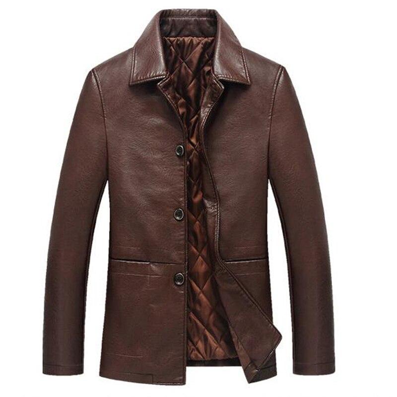 Image 5 - Кожаная мужская куртка из мягкой искусственной кожи, мужская деловая повседневная куртка, Мужская Куртка Jaqueta Masculinas Inverno Couro, большой размер XXXL 4XL-in Пальто из искусственной кожи from Мужская одежда