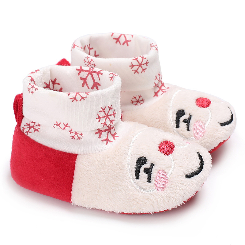 Baby Moccasins Chrismas Gift Girls Baby Shoes First Walkers Soft Sole Baby Shoes
