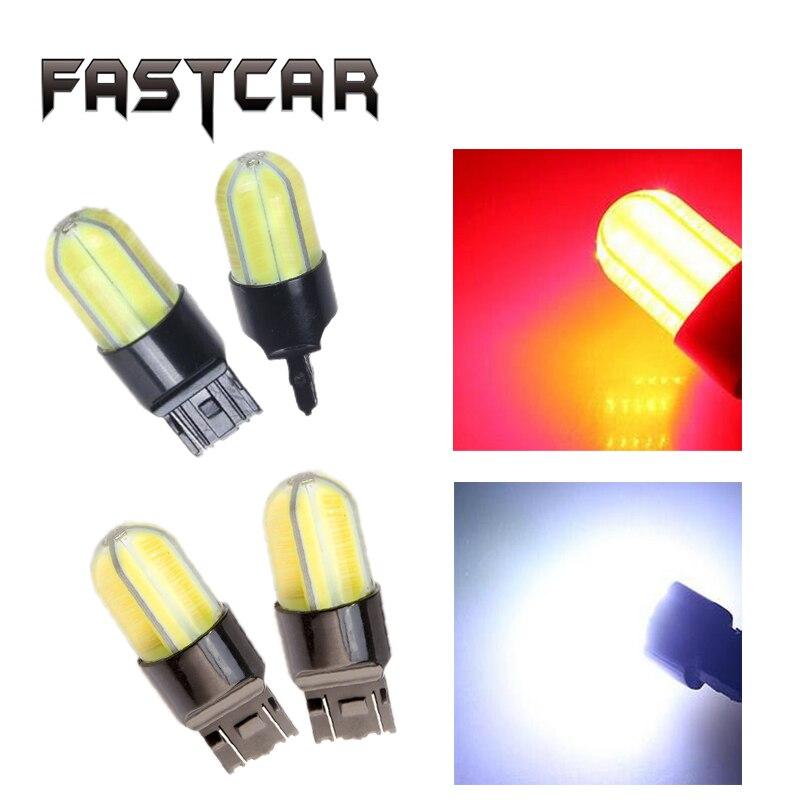 2x Super Bright T20 W21/5W 7443 7440 LED Bulb COB Turn Signal Lights Led 7443 LED Light Red White Yellow Blubs Brake Lamp 12V