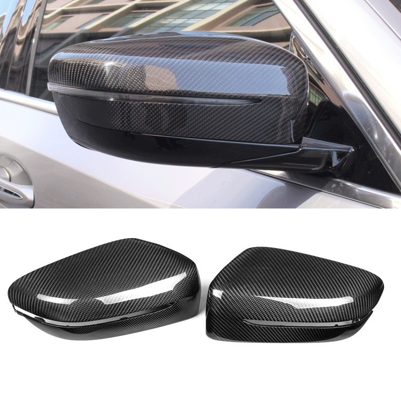 For BMW 5 SERIES G30 7 SERIES G38 LHD Real Carbon Fiber Side Door Mirror Wing Mirror Cover Replacement Car Styling Accessories replacement car styling carbon fiber abs rear side door mirror cover for bmw 5 series f10 gt f07 lci 2014 523i 528i 535i