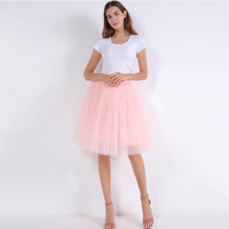მაღალი წელის 7 ფენა Midi Tulle skirt - ქალის ტანსაცმელი - ფოტო 4