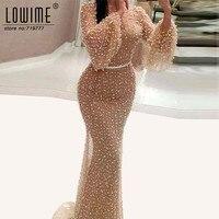 Robe De Soirée Árabe Champagne Formal Vestido de Noite Kaftan 2017 Pérola Do Oriente Médio Abendkleider Sereia Vestido de Festa Vestidos Abiye