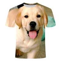 3D gedruckt hund T-shirts Labrador retriever große größe 6XL T-shirt muster kann angepasst werden Kaufen mehr als ein rabatt 2019