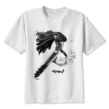 57a97dca berserk TShirt men boy Summer O Neck white youth t shirt casual white print  anime t-Shirts men top tees M8081