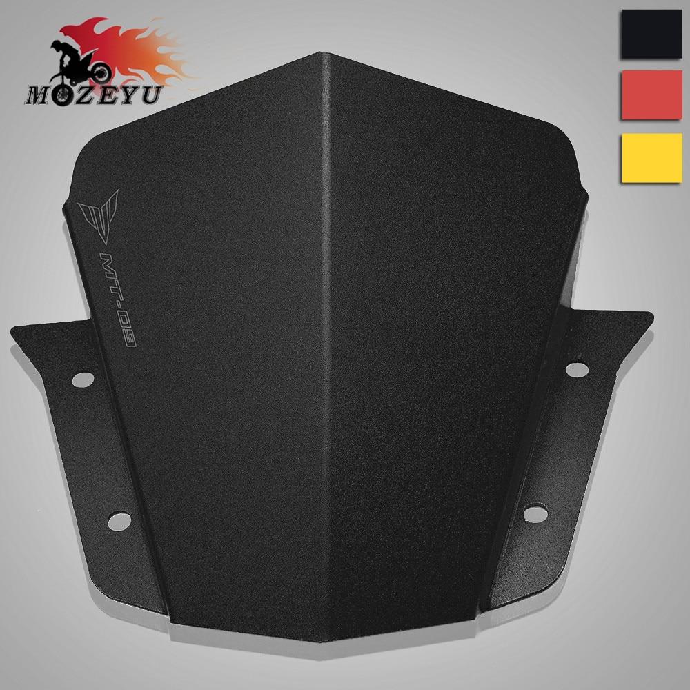 Red Windshield//WindScreen For Yamaha MT-09 FZ-09 2014 2015 2016 Aluminum