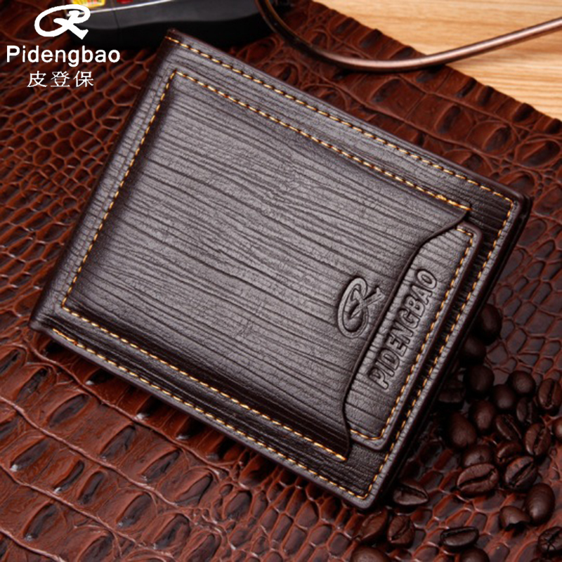 PIDENGBAO Brand New Men Wallets PU Leather Men's Short Purses Money Wallet Credit Cards Holder Pocket Luxury Designer Purse 2015 new male baridian us 100 dollar bill fake money short purses billeteras hombre women s wallets classic flag designer