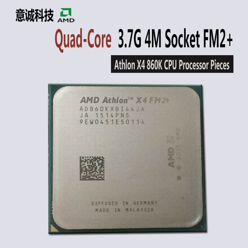 AMD AthlonII x4 860K CPU Processor Quad Core 3.7GHz/95W Desktop FM2+ 906pin AD860KXBI44JC New pieces-in CPUs from Computer & Office