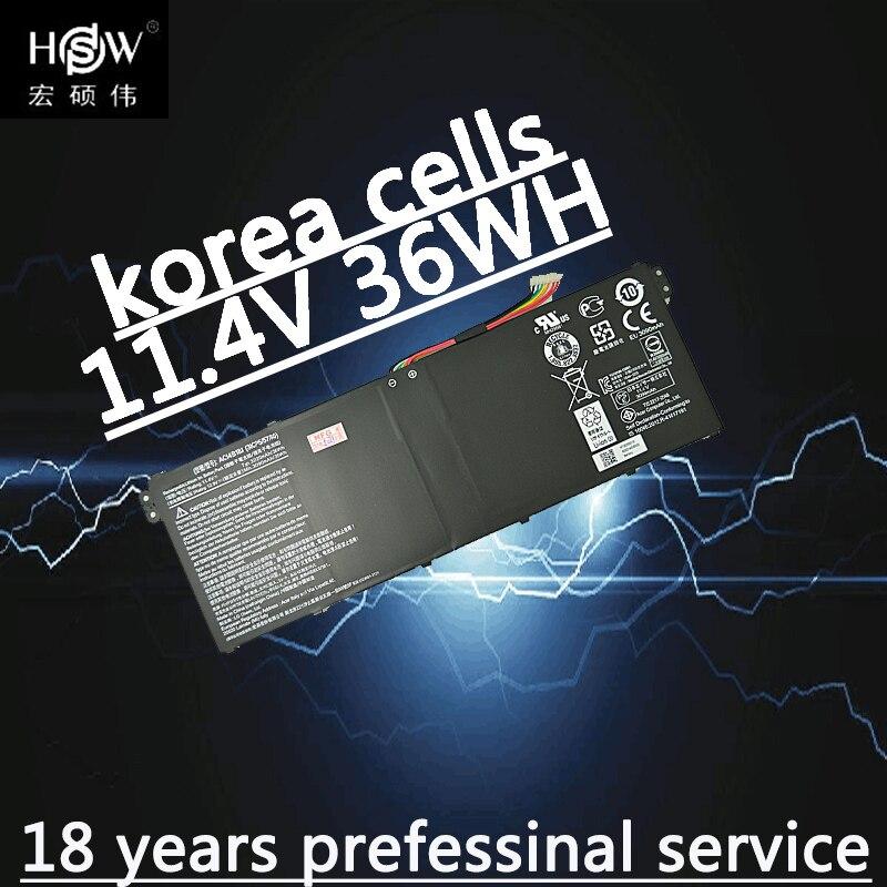 HSW Nouveau 11.4 V 36wh batterie d'ordinateur portable pour Acer Aspire E3-111 V3-111 V3-111P V5-122 KT0030G AC14B18J 4ICP5/57/80 batterie pour ordinateur portable