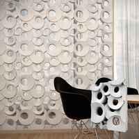 """2pcs 3D Plastic mal voor Gips 3D Decoratieve Muur blok Panelen """"Ring"""" NIEUWE MAL Ontwerp 2017 jaar"""