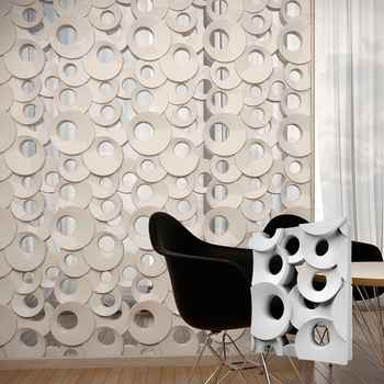 """2pcs 3D Plastic mold for Plaster 3D Decorative Wall block Panels """"Ring"""" NEW MOLD Design 2017 year"""