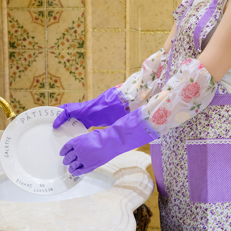Latex Warm Cleaning Gloves