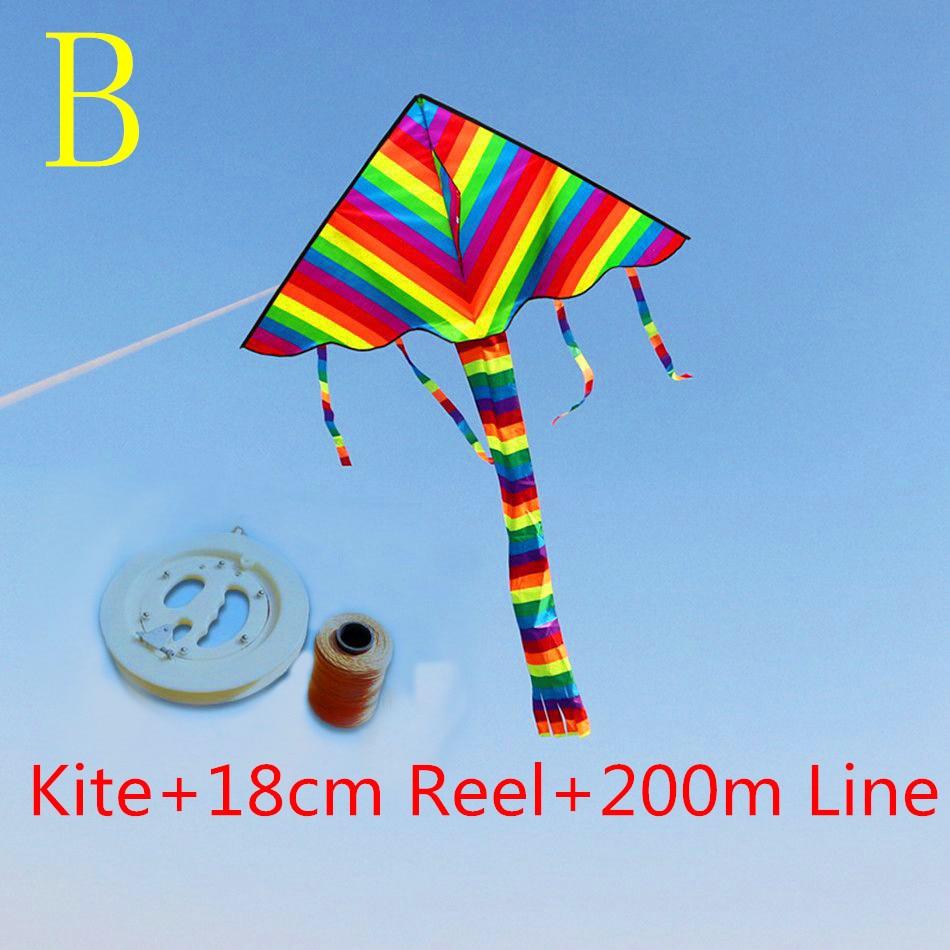 freie Verschiffenqualität 3.8m großer Regenbogendrachen mit Grifflinie Kinderdrachengroßverkauf ripstop Nylongewebe hcxkite Fabrik
