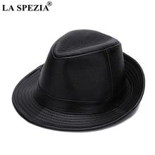 LA SPEZIA черные фетровые шляпы мужские из натуральной кожи ретро Джаз шапки джентльмен из натуральной кожи роскошные весенние классические фетровые Трилби шляпы