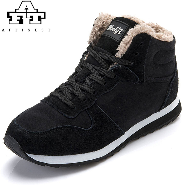 Snow Running Shoes >> Affinest Winter Running Shoes For Men Women Warm Leather Snow
