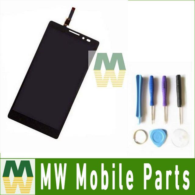 Para lenovo vibe z k910 lcd display + touch screen digitador assembléia com ferramentas 1 pc/lote cor preta