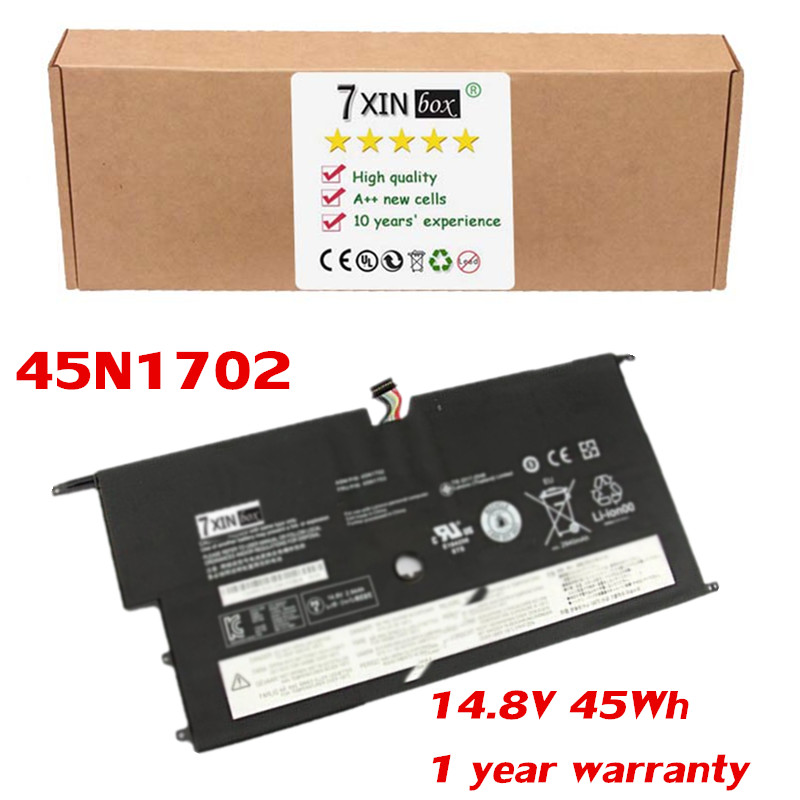 14.8V 45Wh Battery 45N1702 For Lenovo ThinkPad New X1 Carbon 14 Series 45N1701 45N1703 4ICP5/58/73-2 20A7A04ACD 7xinbox 15 2v 50wh laptop battery for lenovo asm p n sb10f46441 fru p n oohw003 4icp5 58 73 2