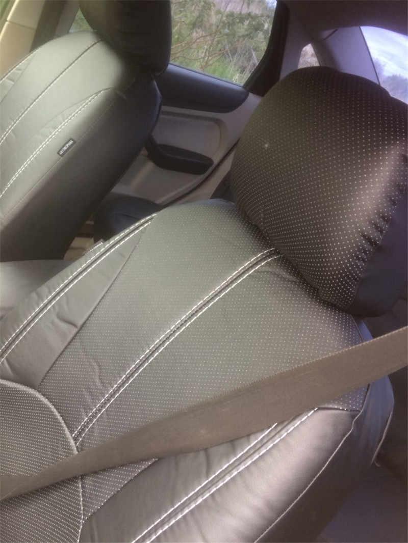 Чехлы для автомобильных сидений из ПУ кожи, 9 шт., универсальные, водонепроницаемые, пыленепроницаемые, защитный чехол для сидений, черный чехол для автомобиля