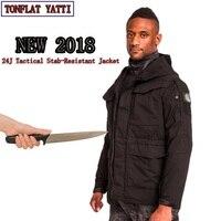 2018 самообороны тактика колото анти резка куртка Водонепроницаемый ветрозащитный быстросохнущие Коверт Stab SWAT Полиция костюмы
